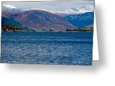 Winter Snow Caps At Loch Broom Greeting Card