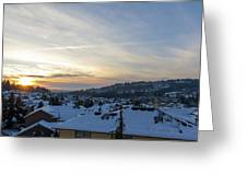 Winter Snow In Happy Valley Oregon Greeting Card