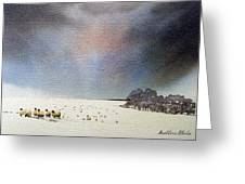 Winter Snow Swaledale Greeting Card
