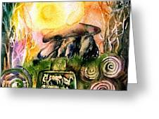 Winter Solstice , Ancient Stones Of Ireland   Greeting Card