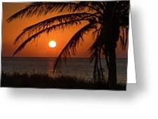 Winter Solstice Sunrise 2 Delray Beach, Florida Greeting Card
