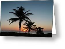 Winter Solstice Sunrise Delray Beach Florida Greeting Card