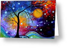 Winter Sparkle By Madart Greeting Card by Megan Duncanson