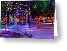 Winter Spirit At Locomotive Park Greeting Card