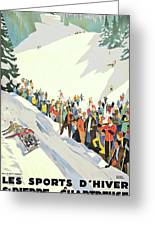 Winter Sport, Mountain, France Greeting Card
