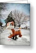Winter Squirel Greeting Card