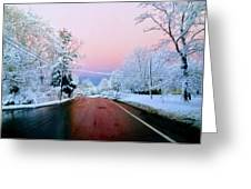 Winter St Greeting Card