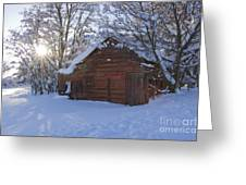 Winter Stable Greeting Card