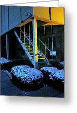 Winter Stairs Greeting Card