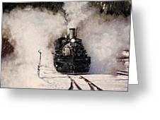 Winter Steam At Rockwood Colorado Greeting Card