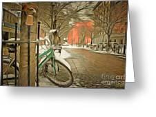 Winter Stockholm  Swiss  Greeting Card