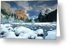 Winter Storm In Yosemite National Park Greeting Card