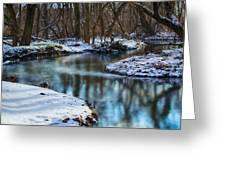 Winter Stream, Pa Greeting Card