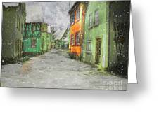 Winter Street Greeting Card