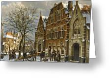 Winter Street Scene. Oudewater Greeting Card