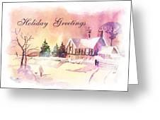 Winter Stroll Card Greeting Card