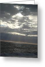 Winter Sun At Sea Greeting Card