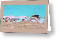 The Beach In Winter  Greeting Card