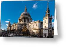 Winter Sun St Paul's Cathedral Greeting Card
