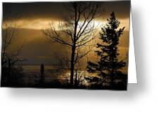 Winter Sunrise 1 Greeting Card