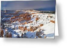 Winter Sunrise Bryce Canyon National Park Utah Greeting Card