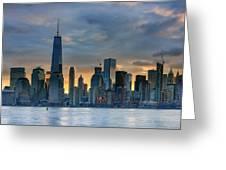 Winter Sunrise New York City Greeting Card
