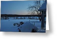 Winter Sunrise On Demond Pond Greeting Card