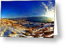 Winter Sunrise On Skaha Greeting Card