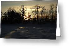 Winter Sunrise Shadows Greeting Card