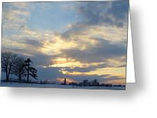 Winter Sunset - Lambton County Greeting Card
