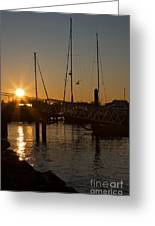 Winter Sunset At Annapolis Harbour Greeting Card