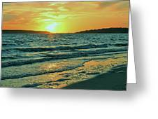 Winter Sunset At Wellfleet Harbor Greeting Card