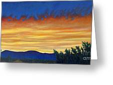 Winter Sunset In El Dorado Greeting Card