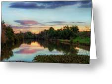 Winter Sunset On The Slough Greeting Card