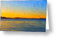 Winter Sunset Over Ipswich Bay Greeting Card