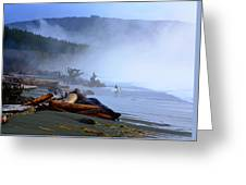 Winter Surf On Vancouver Island Greeting Card