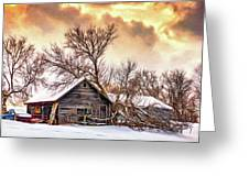 Winter Thoughts 2 - Paint Greeting Card
