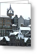 Winter Townscape Scotland Greeting Card