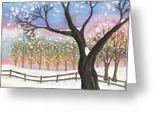 Winter Tree Landscape Greeting Card