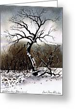 Winter Tree Stainland Greeting Card