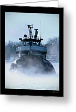 Winter Tug Greeting Card