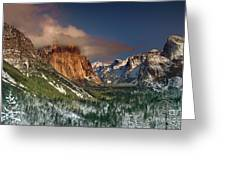 Winter Tunnel View Yosemite National Park  Greeting Card