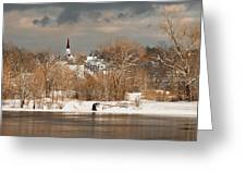 Winter View Of Allenstown Greeting Card
