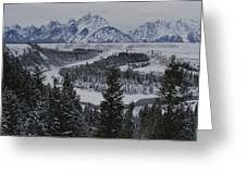 Winter View Of The Snake River, Grand Greeting Card