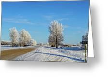 Winter In Saskatchewan Greeting Card