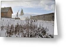 Winter Village Greeting Card