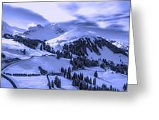 Winter Vista Greeting Card