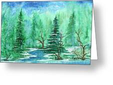 Winter Walk A  Greeting Card