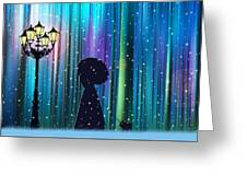 Winter Walk In The Magical Forest Greeting Card