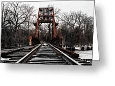 Winter Walk - Orange Greeting Card